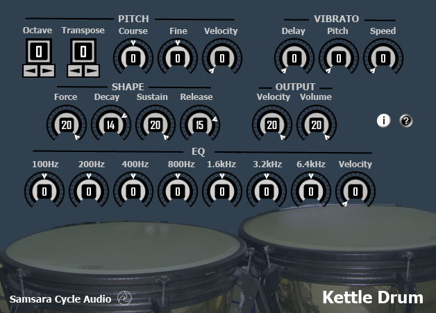 FREE Download Kettle Drum VST Screen