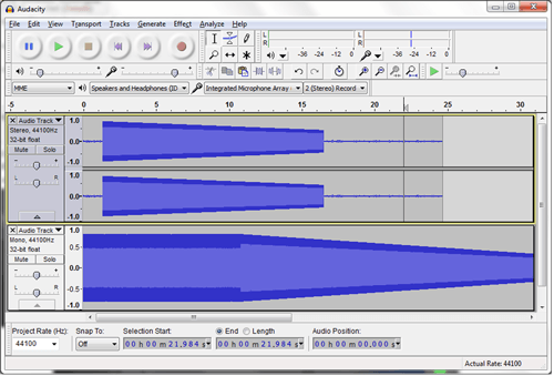 Audacity - Multitrack mixing