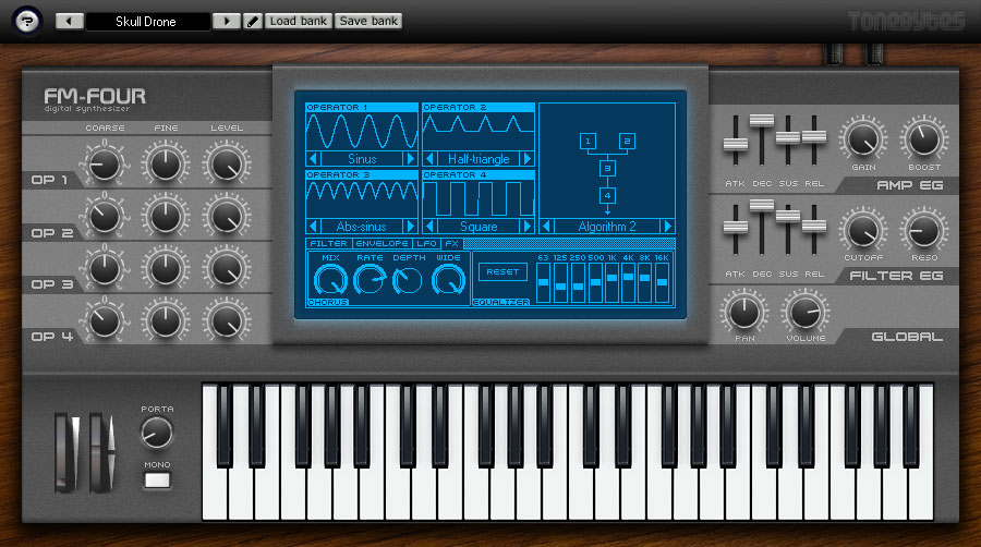Free 4 Oscillator Synth FM-Four by ToneBytes | VST A Day